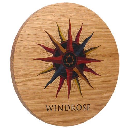 Cork Backed Real Wood Coasters in Oak
