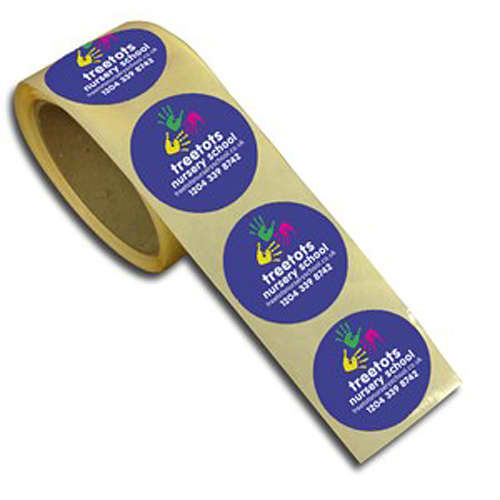 Promotional Reels of Paper Stickers for childrens merchandise