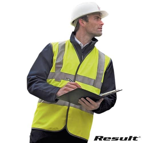 Result Safeguard Hi Vis Safety Vests in Yellow