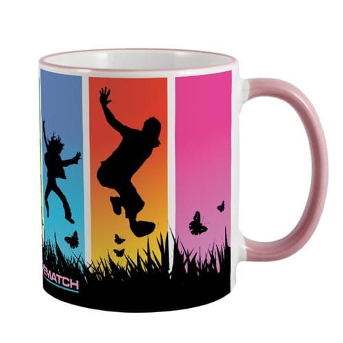 Promotional Rim and Handle Full Colour Mugs for Desktops