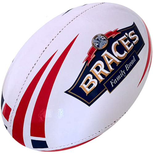 Rugby Ball in White