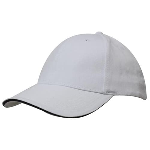 Promotional Sandwich Trim Brushed Heavy Cotton Cap for merchandise