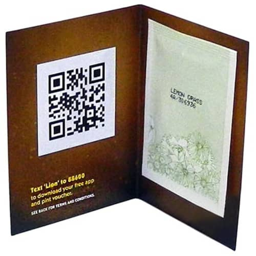These promotional seed booklets come complete with a packet of seeds in the variety of your choosing