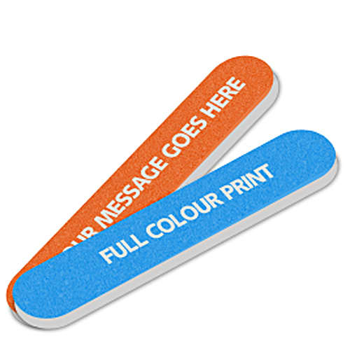 Promotional printed Nail Files branded with a design