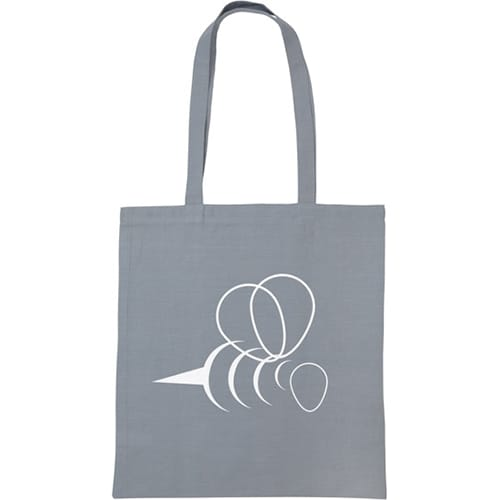 Snowdown Cotton Tote Bags in Grey