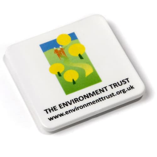 Square Recycled Plastic Magnets in White