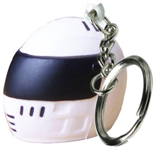 Stress Crash Helmet Keyrings in Off White