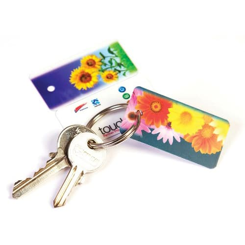These promotional Club Card Keyrings can be printed in full colour.