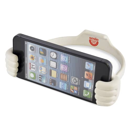 Personalised Thumbs Up Phone Holders for Budget Friendly Giveaways