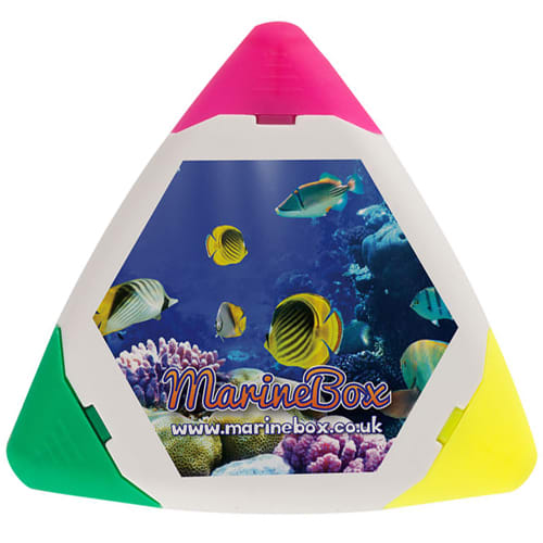 Personalised Trident Triangle Highlighters  for Office Merchandise Ideas