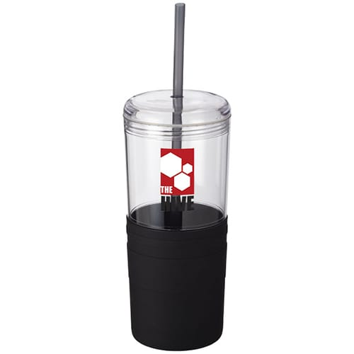 Tumbler with Straw in Black