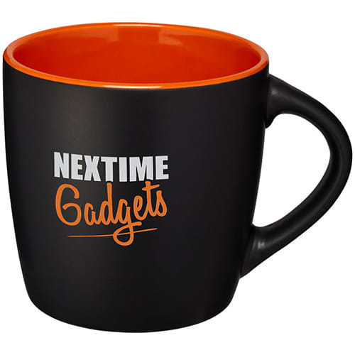 Two Tone Rivera Mugs in Black/Orange