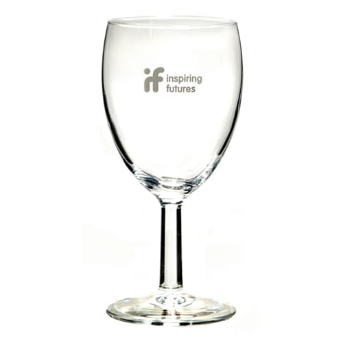 Promotional Wine Glasses Featuring Restaurant Logos