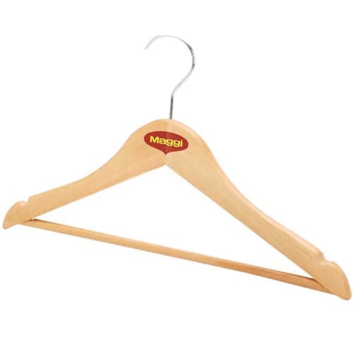 Wooden Coat Hangers in Natural