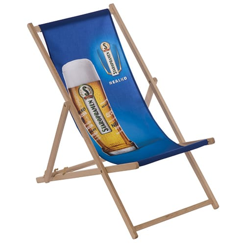 These promotional Custom Deck Chairs are printed in full colour, ensuring your artwork truly stands out
