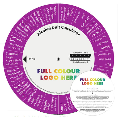 Alcohol Unit Calculator Discs