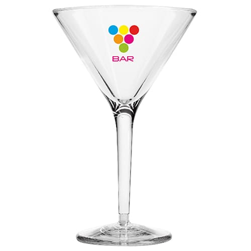 7oz Reusable Plastic Cocktail Glasses in Clear