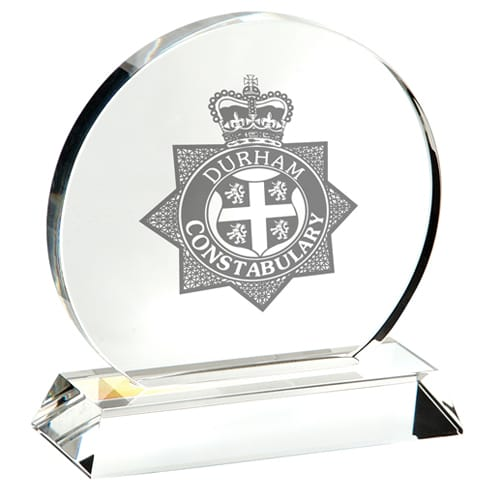 Promotional Medium Crystal Circle Awards for Event Merchandise