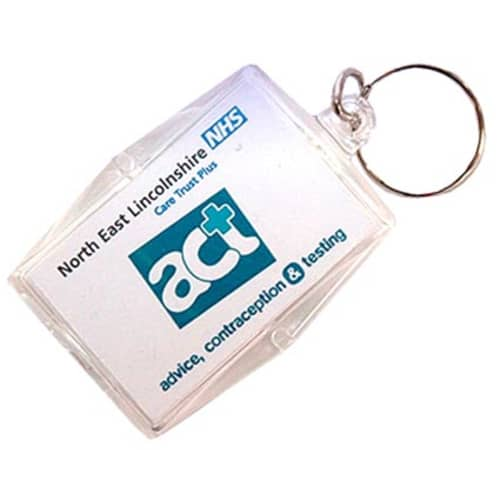 Custom Printed Acrylic Condom Keyrings are promotional giveaways
