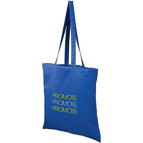 Promotional coloured cotton tote bags for councils