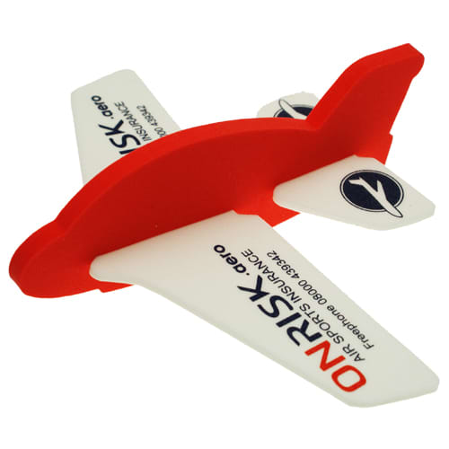 Promotional Foam Gliders printed with company details