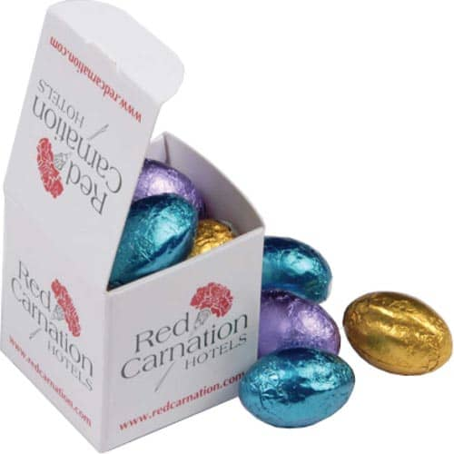 Foiled Chocolate Egg Cubes