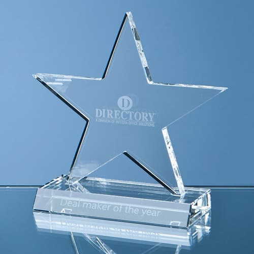 11cm Optical Crystal Star Award in Clear