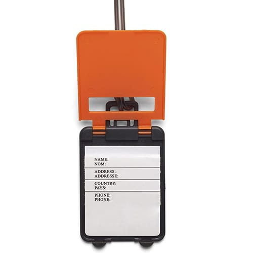 Printed Value Plastic Luggage Tags available in a choice of 5 colours