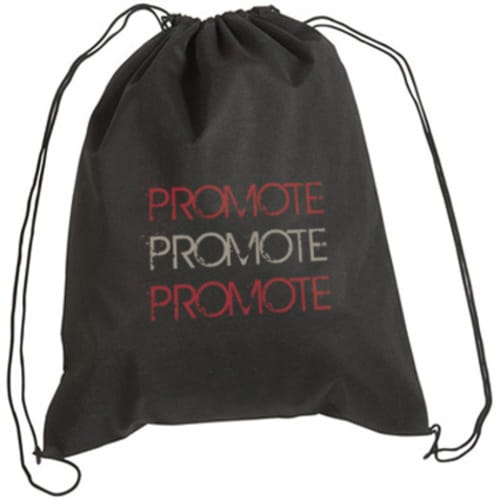 Printed Recyclable Rainham Drawstring Bag with company branding