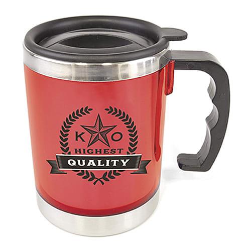 Promotional Double Wall Mug with logos
