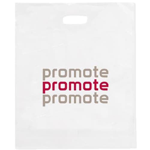 Personalised Small Plastic Carrier Bags for for Exhibition Handouts