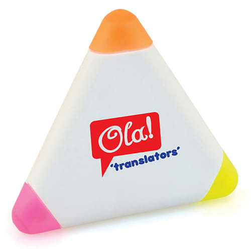 Promotional Small Triangle Highlighter for Office Stationery