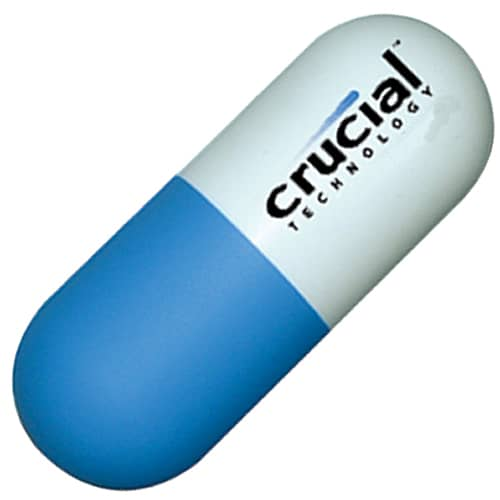 Promotional Stress Capsule for Medical Campaigns