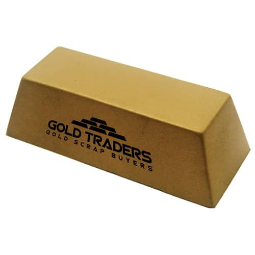 Promotional Stress Gold Bar are ideal for marketing financial campaigns