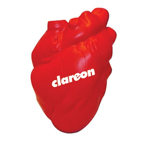 Branded Stress Hearts for Health Campaign Giveaways