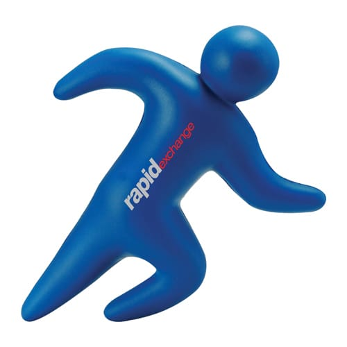 Promotional Stress Running Man for Fitness Campaigns