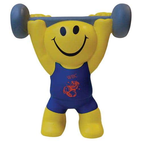 Stress Weight Lifter in Yellow/Blue