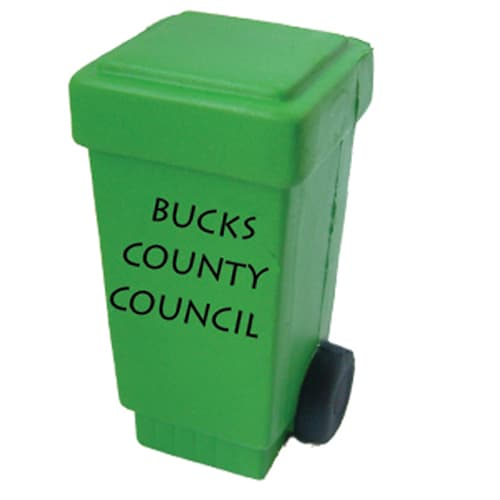 Branded Stress Wheelie Bins for Council Marketing Campaigns