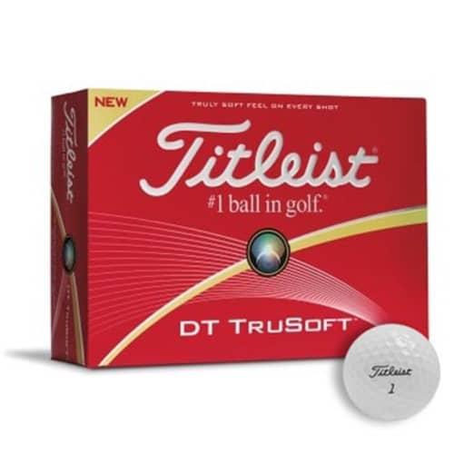 Branded Titleist DT TruSoft Golf Balls for giveaways