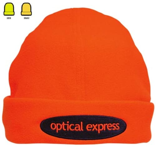Luminous Fleece Beanie in Orange