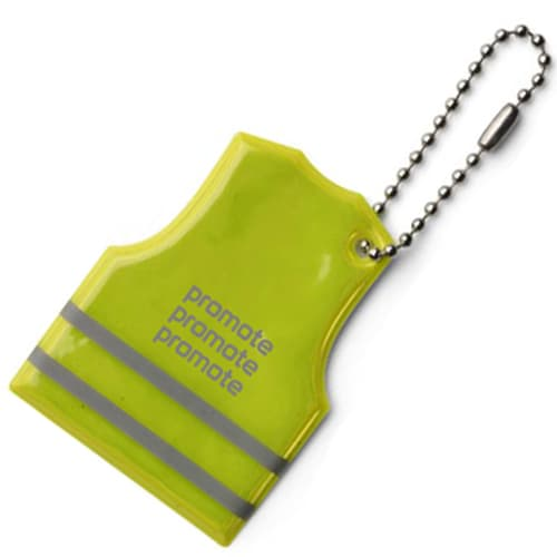 Promotional Vest Shaped Reflective Key Ring is a great promotional for your logos