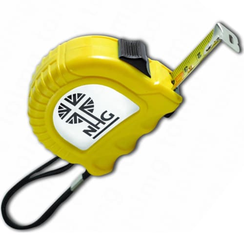 Promotional Deluxe Label 5m Tape Measures for Marketing Campaigns