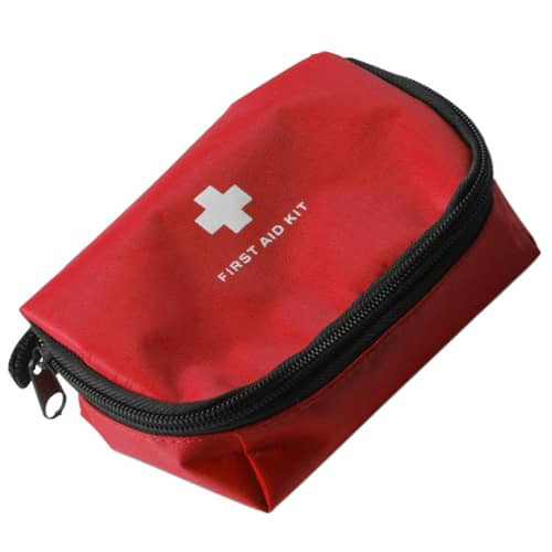 12 Piece First Aid Kit in Red