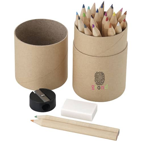 26 Piece Pencil Set Tube in Natural