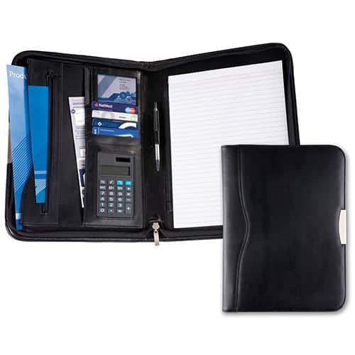 Balmoral Leather A4 Zipped Conference Folder