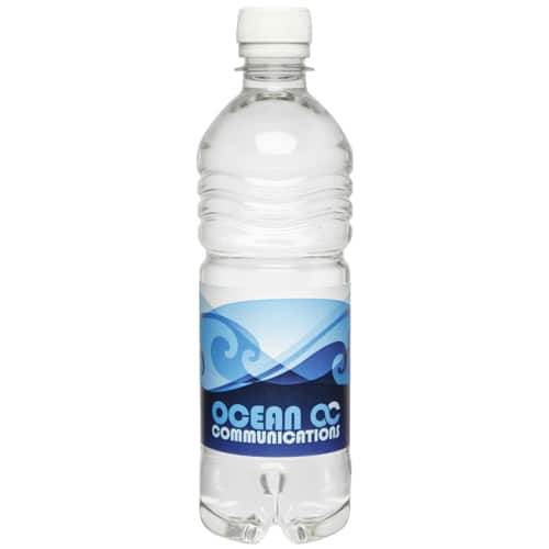 Promotional bottled drinking water 500ml for corporate branding