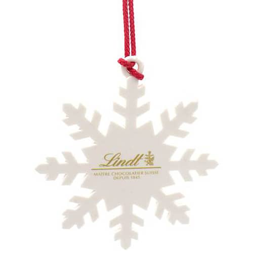 White Snowflake Hanging Decoration in White