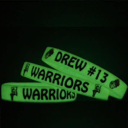 Childrens Glow in the Dark Silicone Wristbands