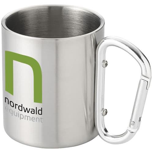 Insulated Carabiner Mug in Silver
