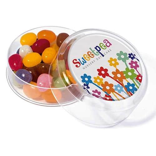 Branded Maxi Gourmet Jelly Bean Pot with logos
